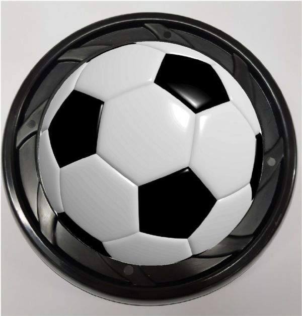 WHEELCHAIR & POWERCHAIR Personalised Spoke Guards FOOTBALL Design